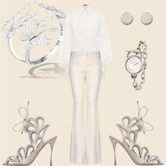 romantic dinner or cocktail party look