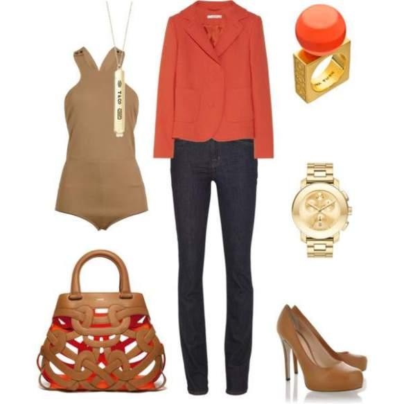 orange color camel color look