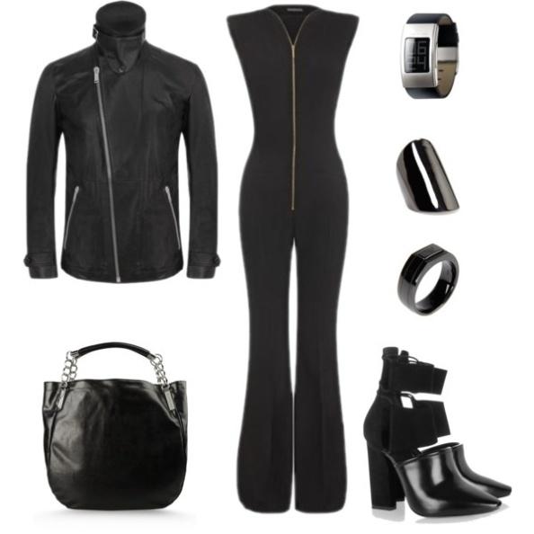 jacket for men / blouson pour homme black outfit