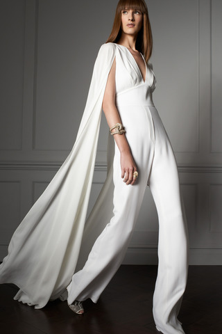 Elie Saab resort 2014 white jumpsuit