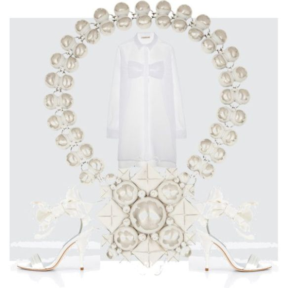 pristine white dress for summer