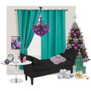 Bambi Schnell Christmas living room