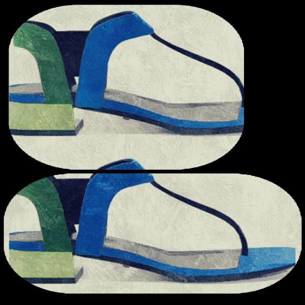 Gucci bi-colour sandals