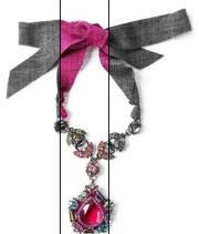 lanvin drop pendant necklace